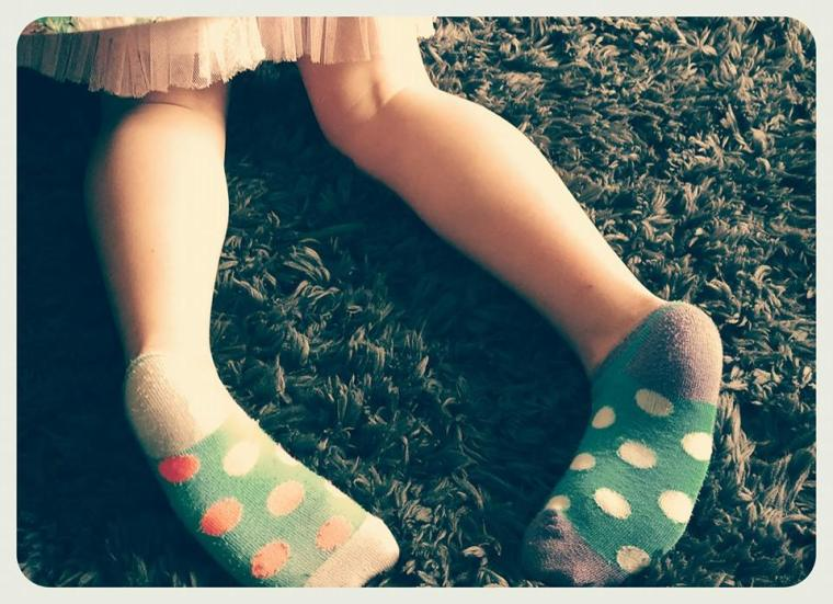 Happiness is mismatched socks.